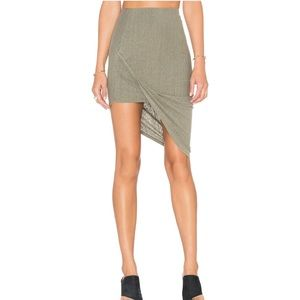 Pam & Gela draped skirt in sage